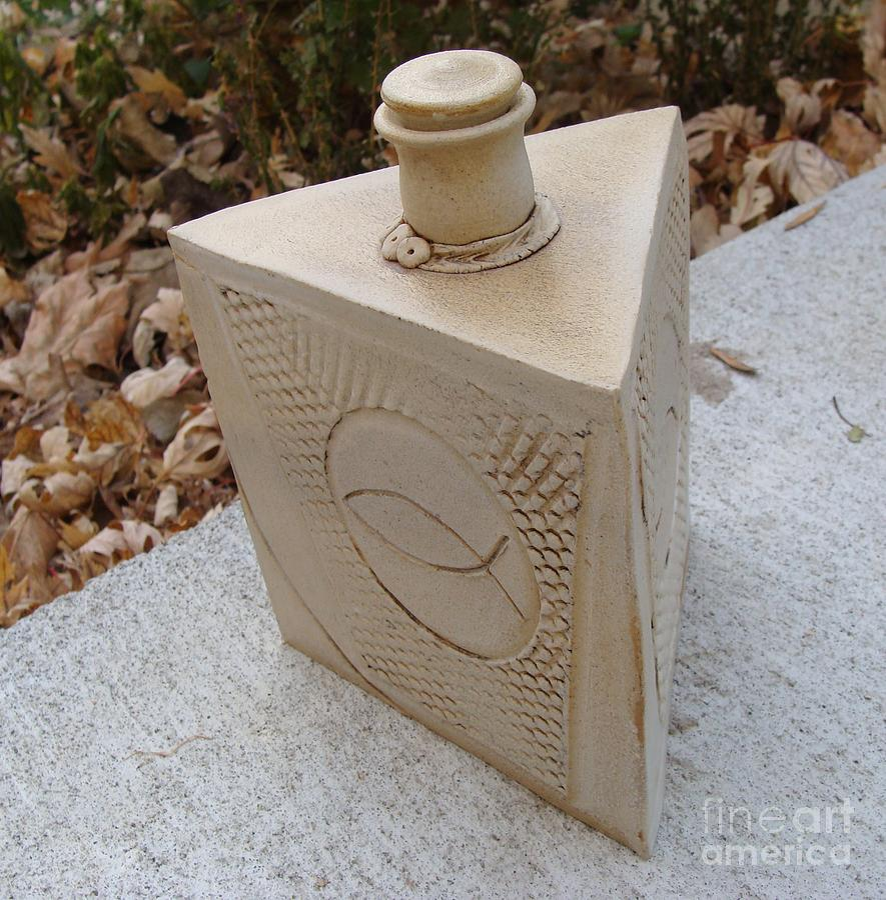 Ceramic Clay Vessel Ceramic Art - Trinity by Christine Belt