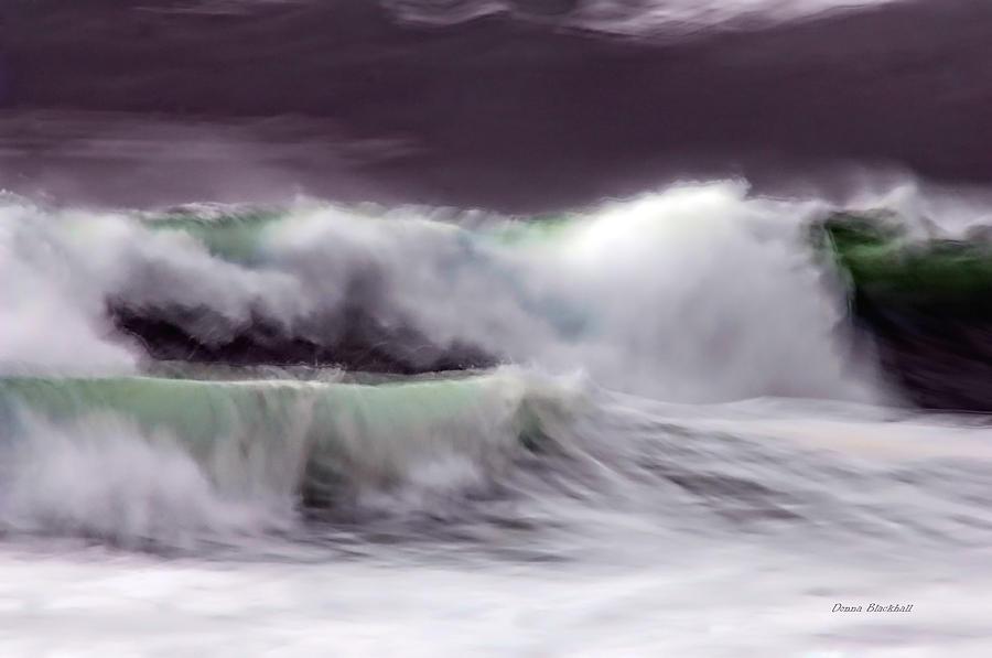 Ocean Photograph - Tritans Dance by Donna Blackhall