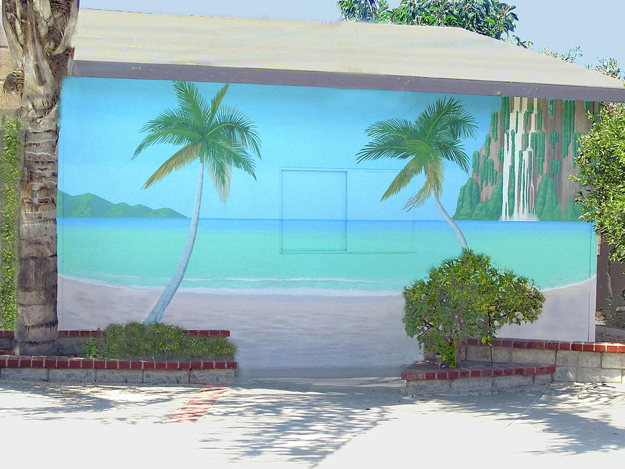 Tropical beach mural los angeles painting by tim cornelius for America tropical mural