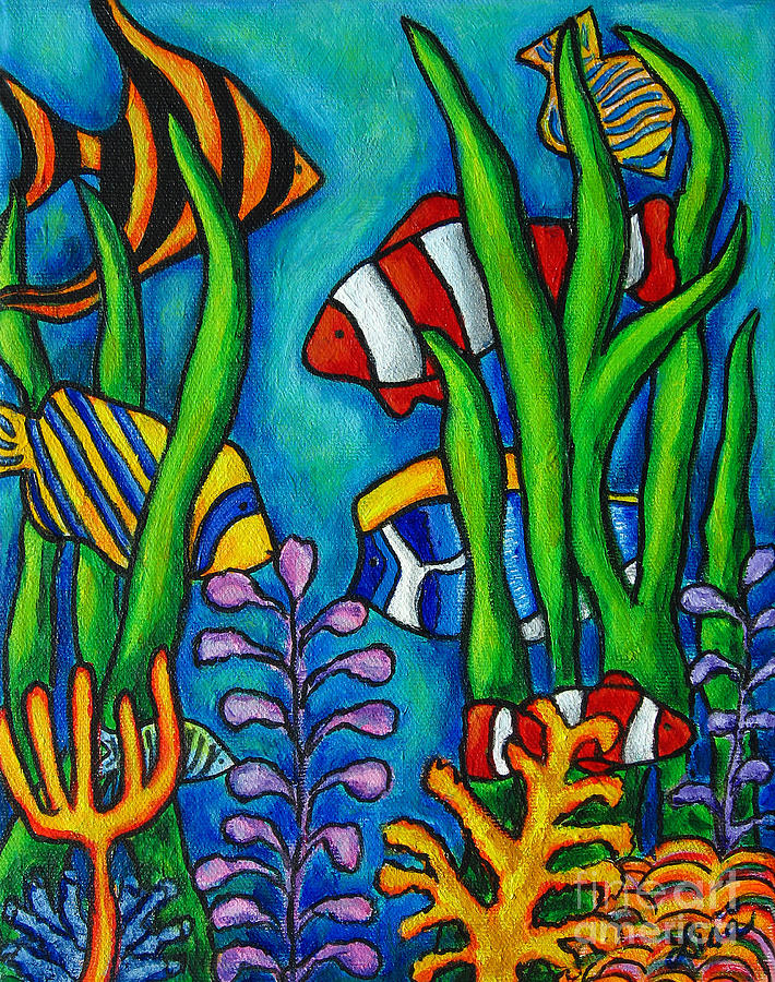 Tropical Painting - Tropical Gems by Lisa  Lorenz