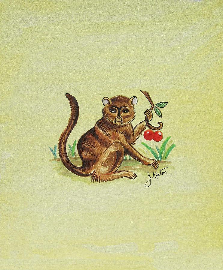 Monkeys Painting - Tropical Monkey 1 by John Keaton