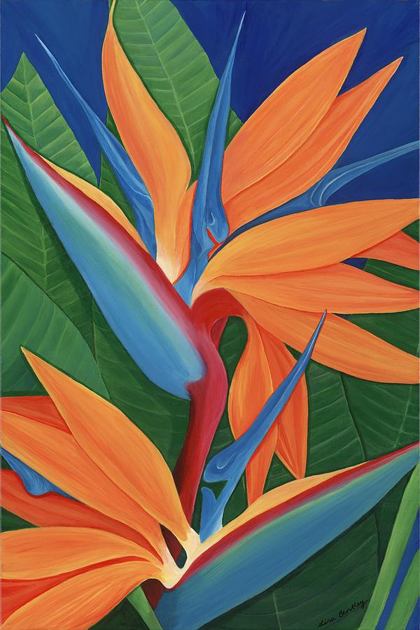 Painting Painting - Tropical Paradise by Lisa Bentley