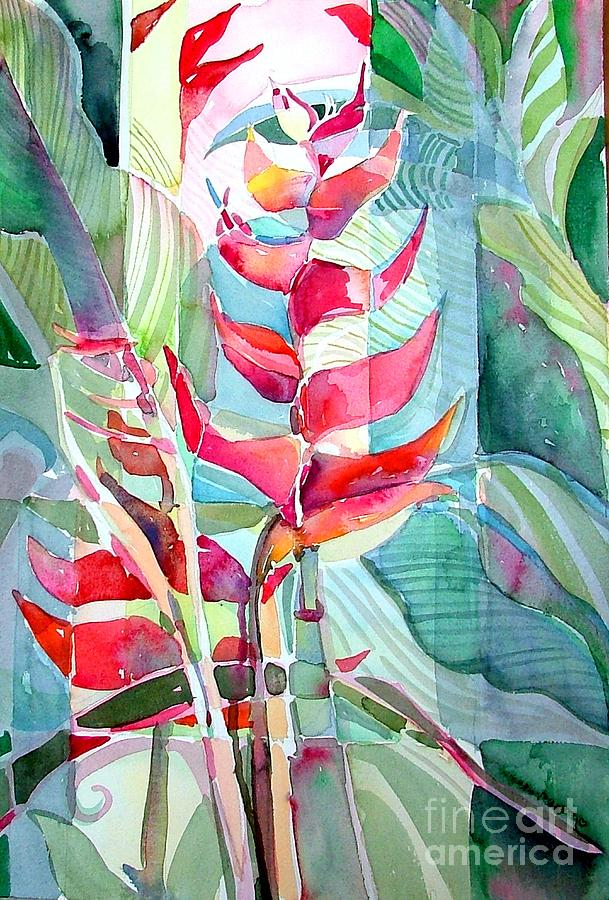 Landscape Painting - Tropicana Red by Mindy Newman