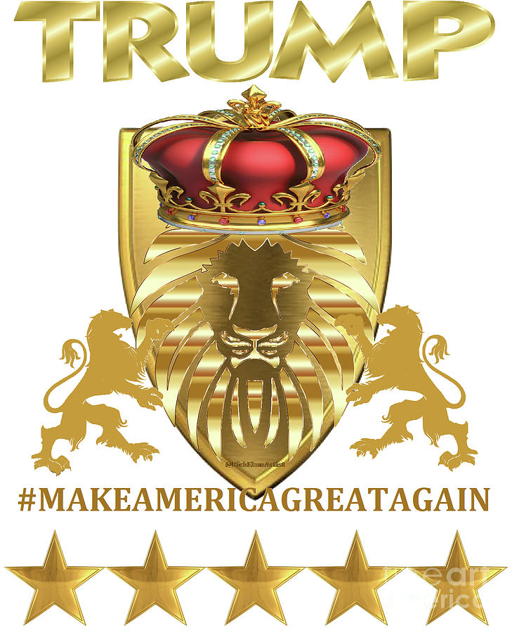 Trump maga guardian lion is a piece of digital artwork by rick elam