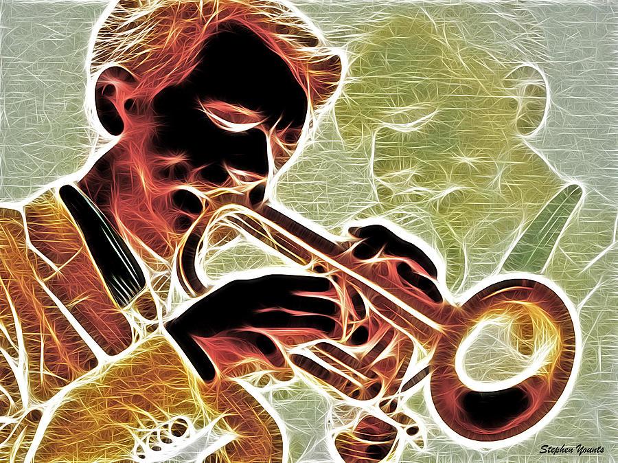 Trumpet Digital Art - Trumpet by Stephen Younts