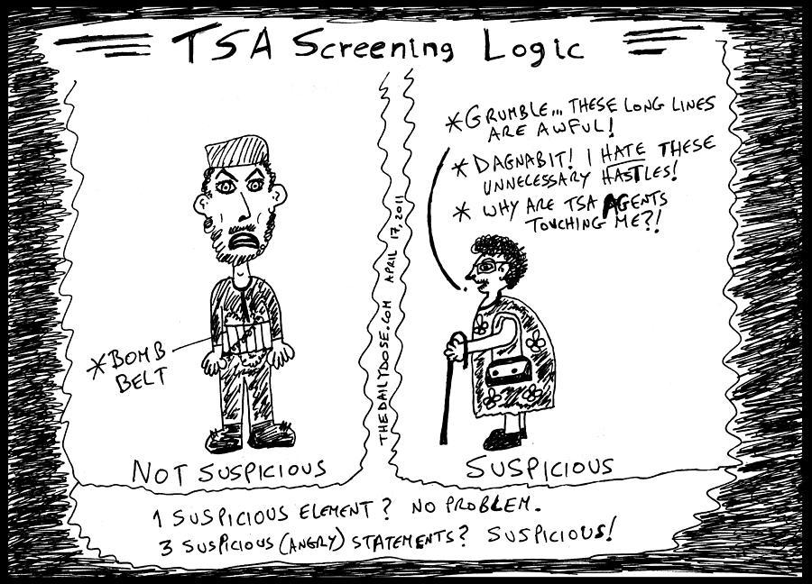 Tsa Drawing - Tsa Follies by Yasha Harari