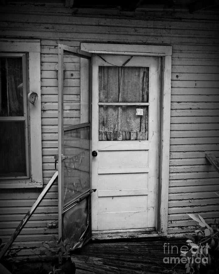Door Photograph - Tuff Times 2 by Perry Webster