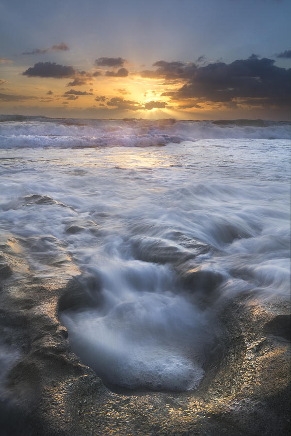 Blowing Photograph - Tumbling Surf by Debra and Dave Vanderlaan