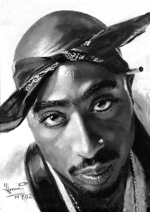 Tupac Shakur Painting by Ylli Haruni