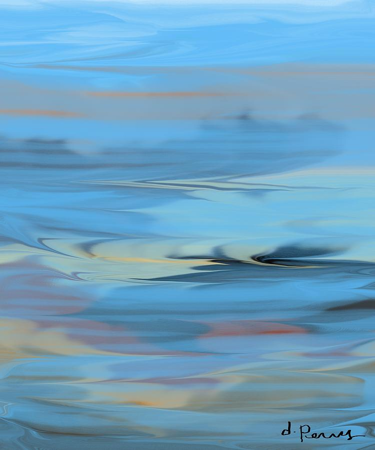 Ocean Art Painting - Turbulence by D Perry