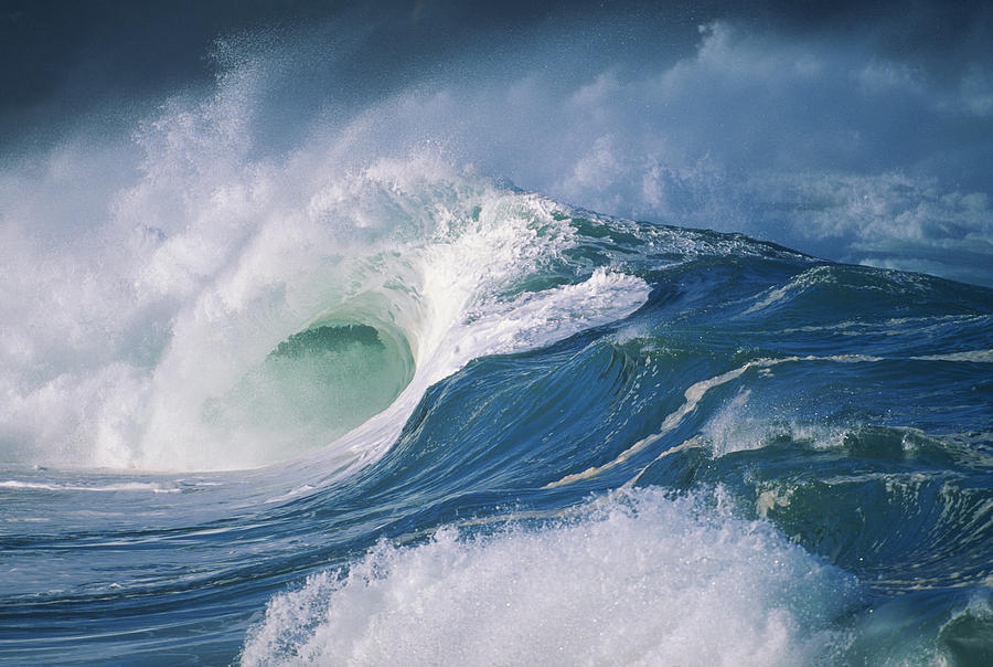 Beautiful Photograph - Turbulent Shorebreak by Vince Cavataio - Printscapes