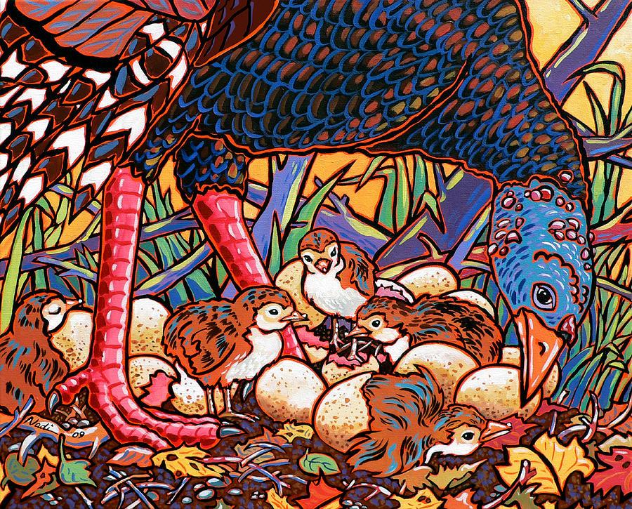 Turkey Painting - Turkeys by Nadi Spencer