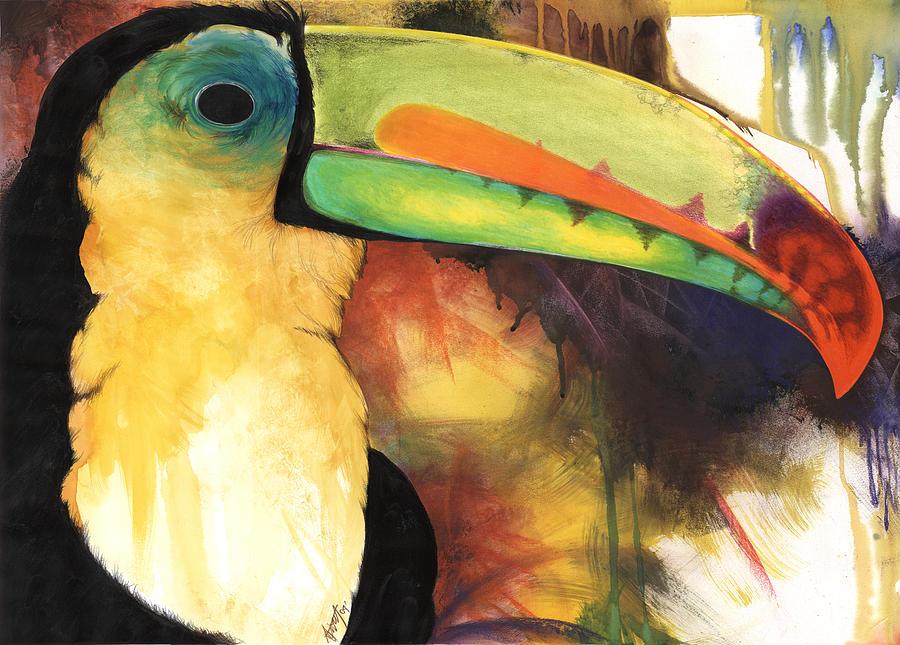 Birds Mixed Media - Tusanii by Anthony Burks Sr