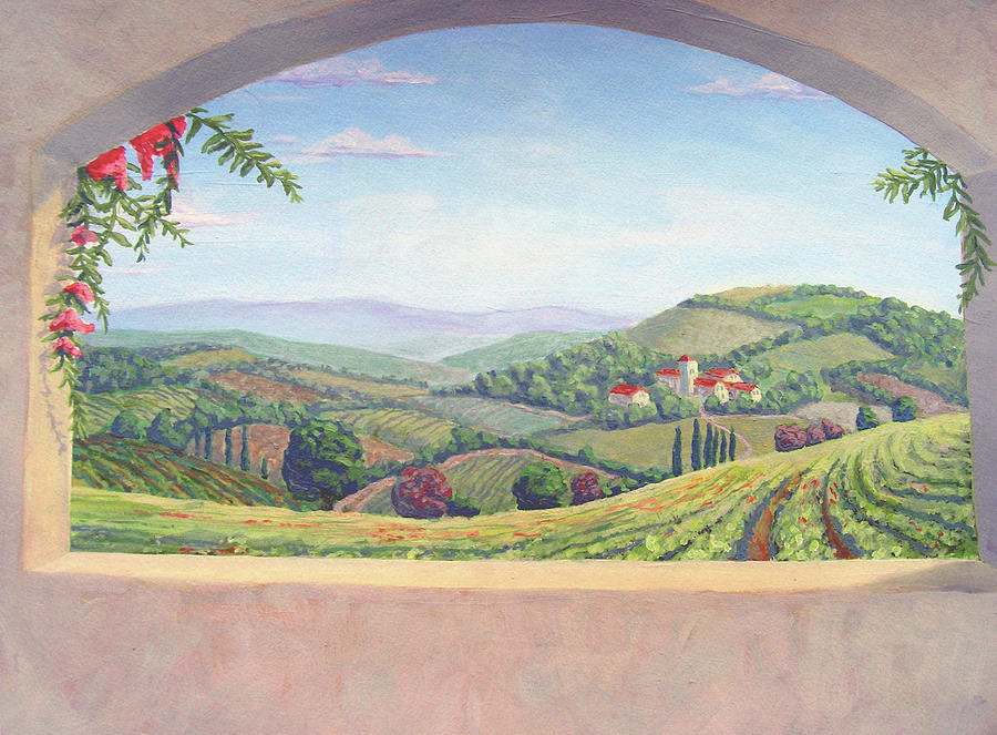Tuscan landscape mural los angeles painting by tim cornelius for Mural painting images