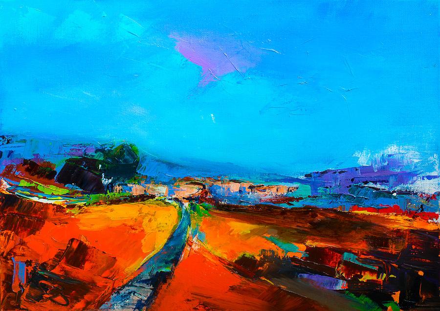 Tuscany Painting - Tuscan Village by Elise Palmigiani