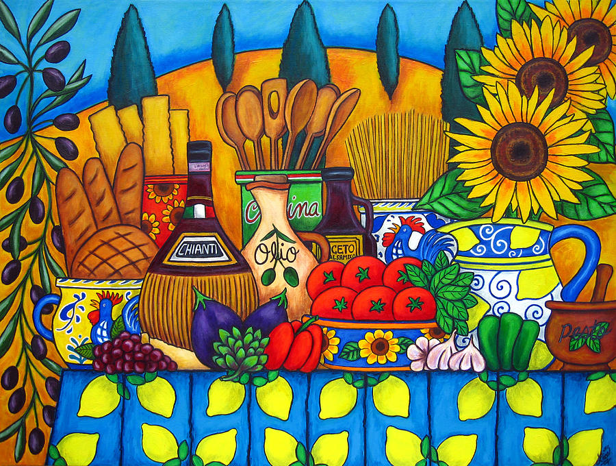 Still Life Painting - Tuscany Delights by Lisa  Lorenz