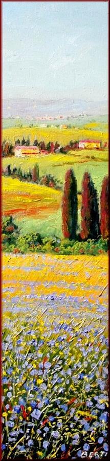 Q Painting - Tuscany Landscape by Antonio Berti