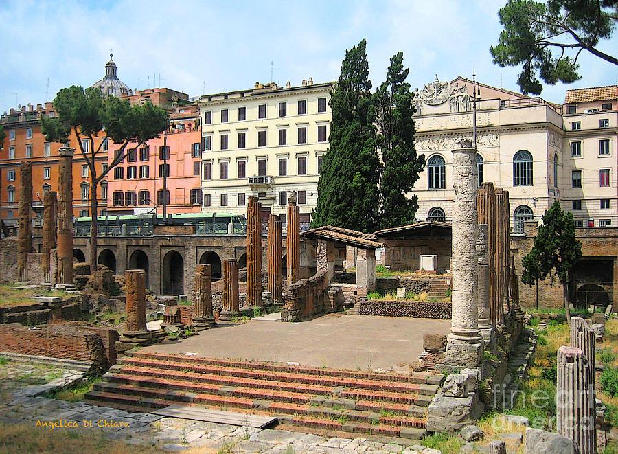Angelica Dichiara Photograph - Tuscany- Roman Forum by Italian Art