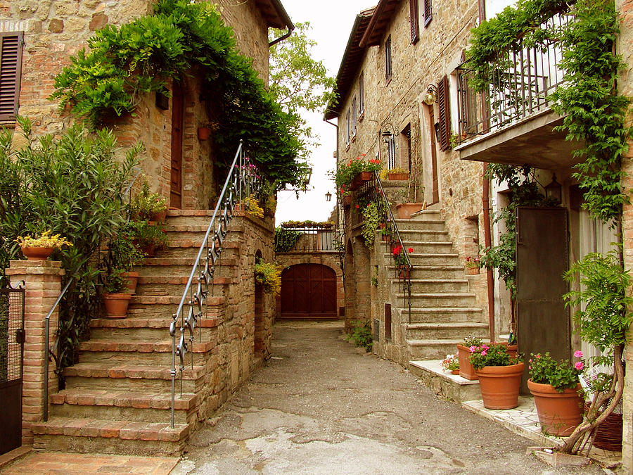 Tuscany Stairways Photograph