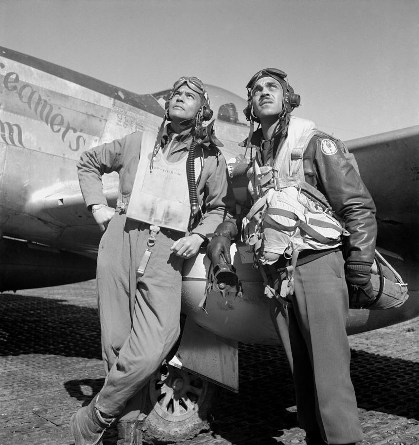 Benjamin Davis Photograph - Tuskegee Airmen by War Is Hell Store