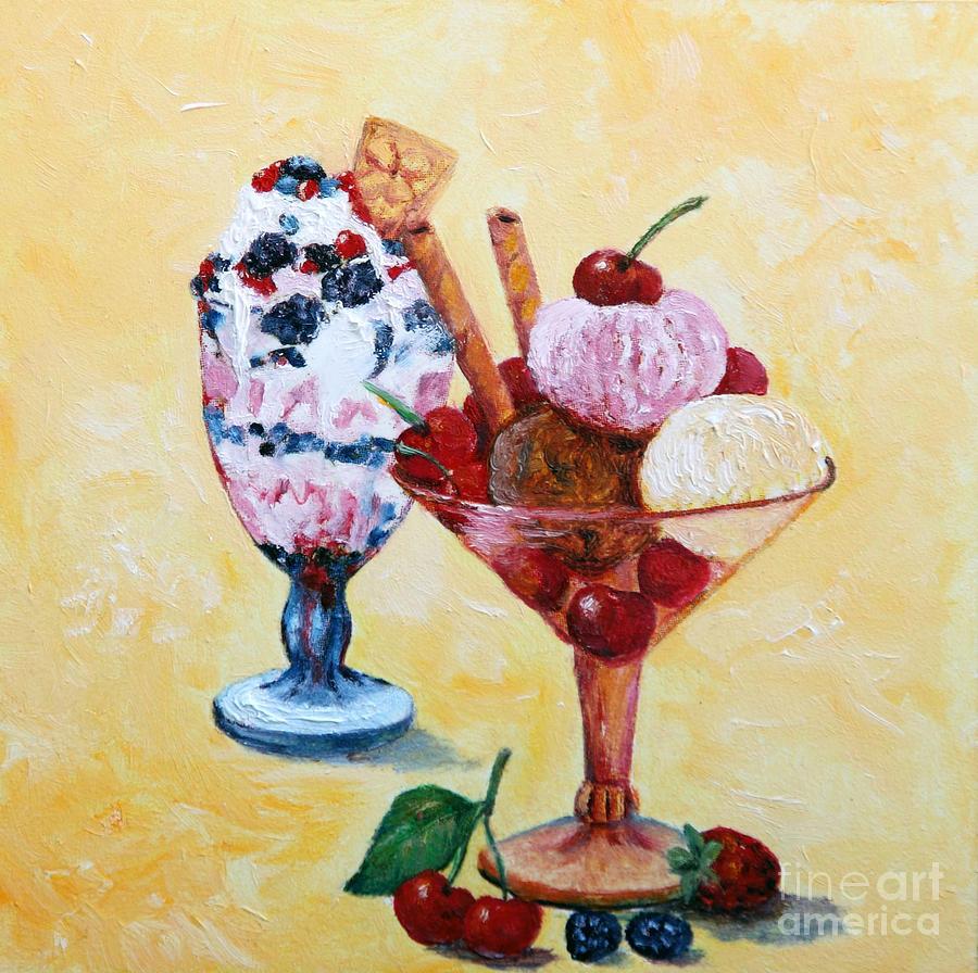Food Painting - Tutti Frutti II by Enzie Shahmiri