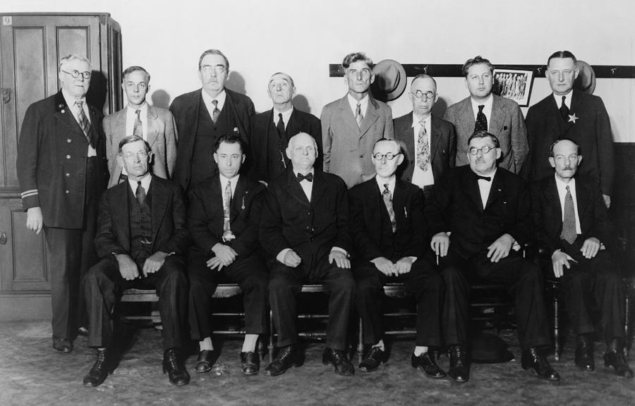 History Photograph - Twelve-man Jury That Convicted Al by Everett