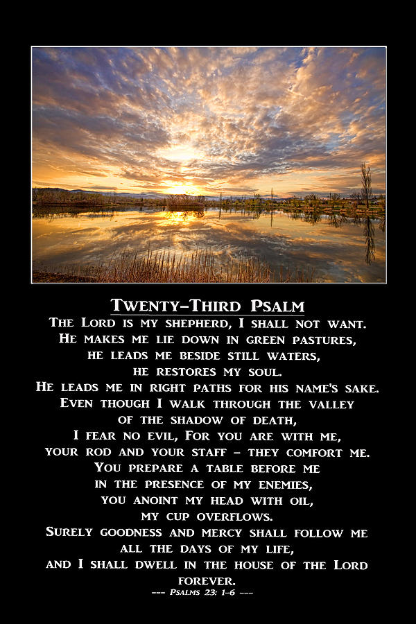 Twenty-third Psalm Prayer Photograph
