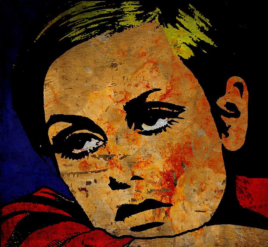 Lesley Lawson Painting - Twiggy by Otis Porritt