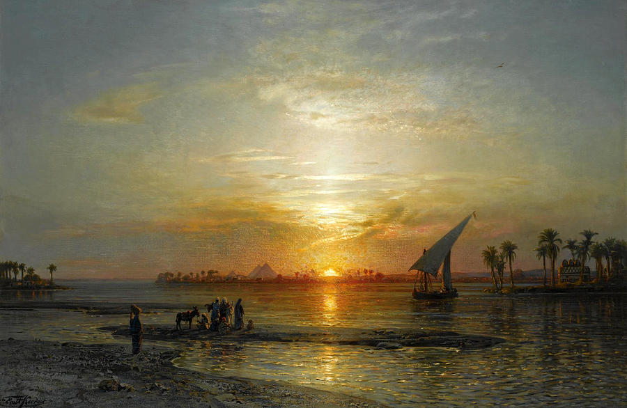 Karl Körner twilight on the nile painting by ernst karl eugen koerner