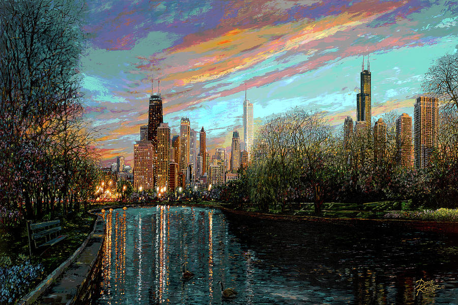 City Painting - Twilight Serenity II by Doug Kreuger