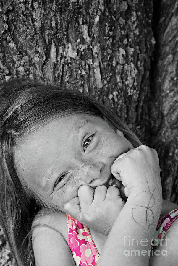 Portrait Photograph - Twisted Expression by Aimelle