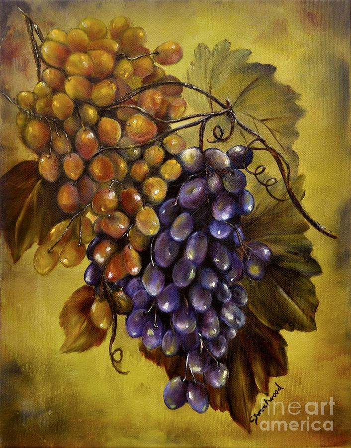Grapes Painting - Two Choices by Carol Sweetwood