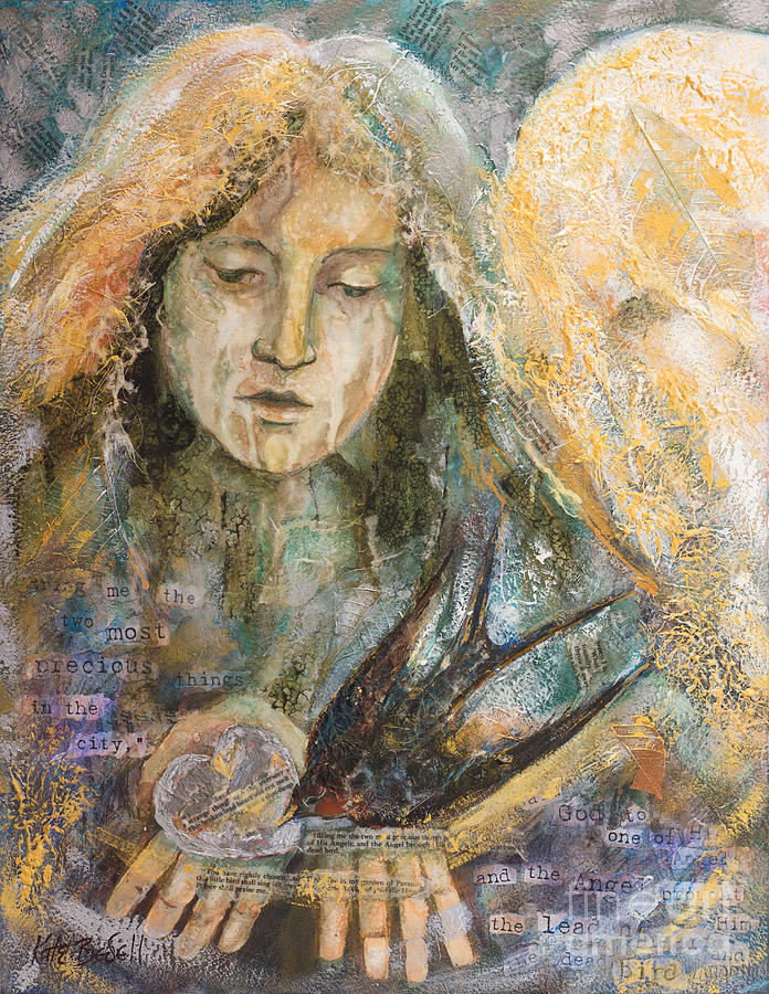 Angel Painting - Two Most Precious Things by Kate Bedell
