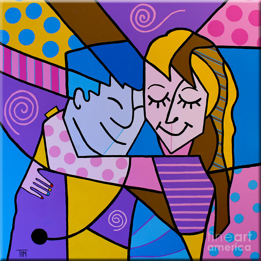 Pop Painting - Twu Wuv by Tim Ross