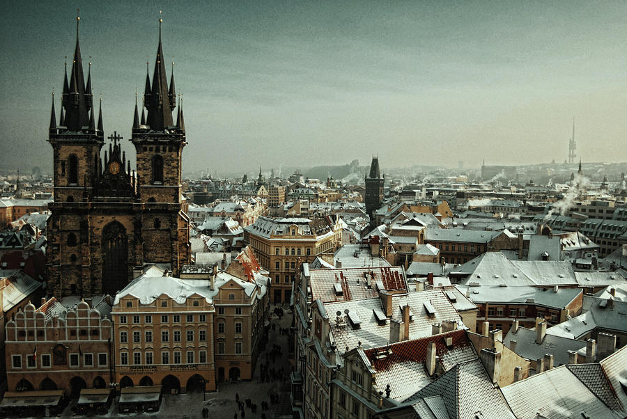 Horizontal Photograph - Tyn Church, Prague by Erik T Witsoe