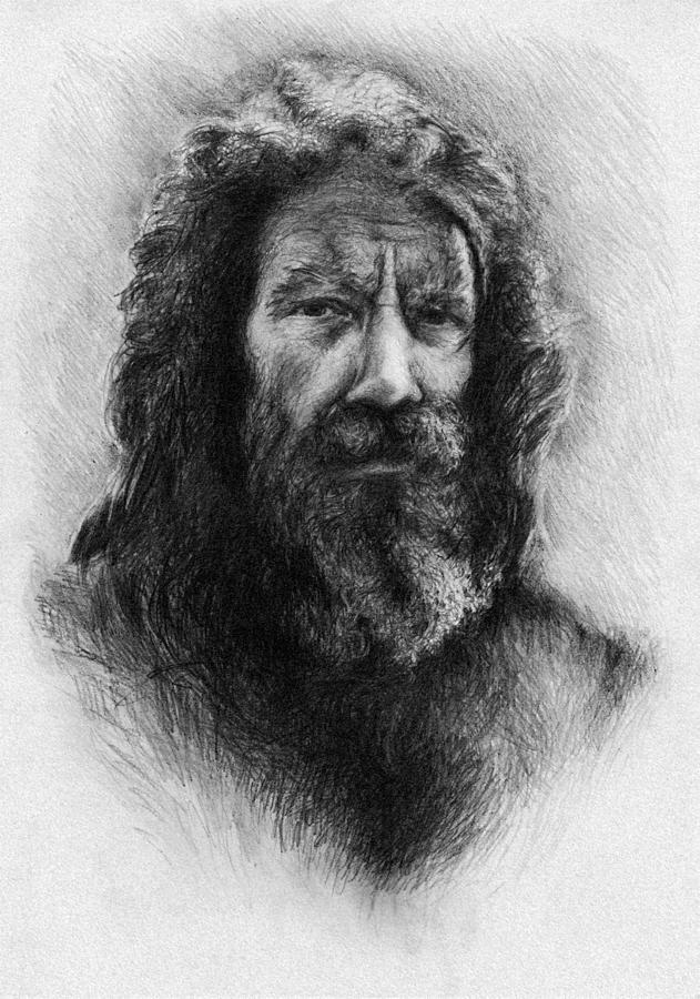 Portrait Drawing - Ue2 - Journeys by Tim Thorpe