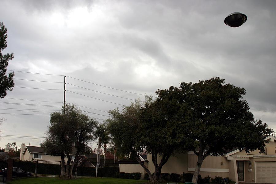 Alien Photograph - Ufo Over My Neighborhood  by Michael Ledray