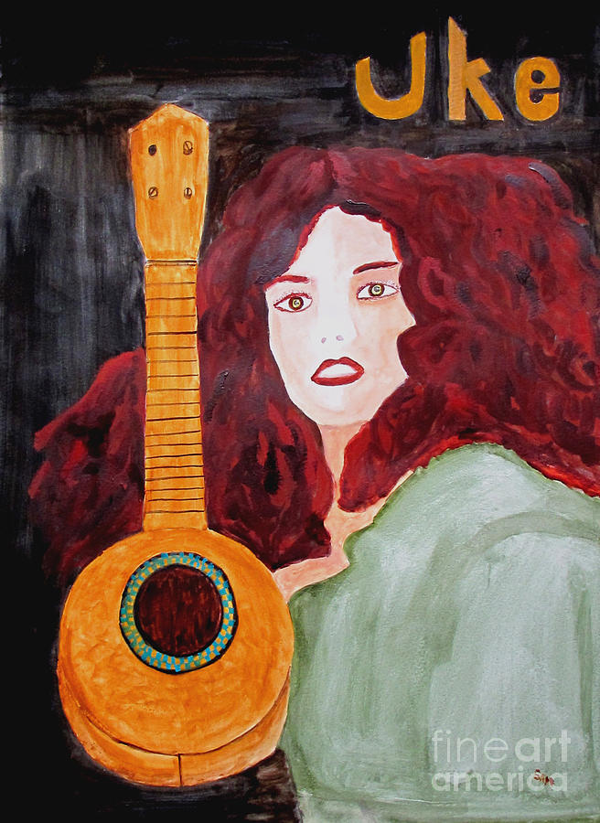 Watercolor Painting - Uke by Sandy McIntire