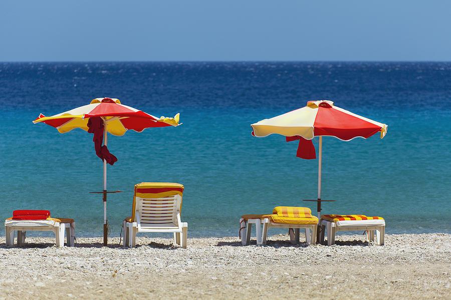 Umbrellas And Beach Chairs A Beach graph by