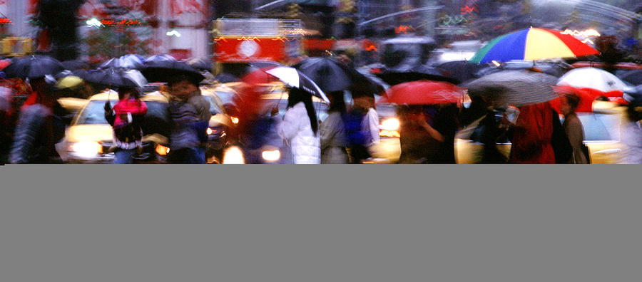 Wet Photograph - Umbrellas by Brad Rickerby