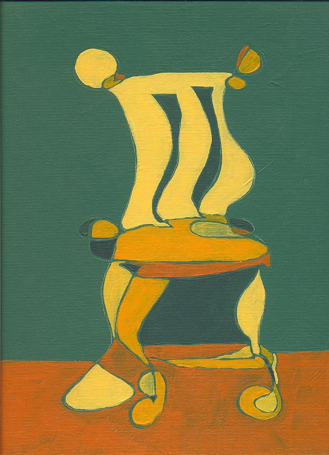 Chair Painting - Un-sittable Small by John Gibbs