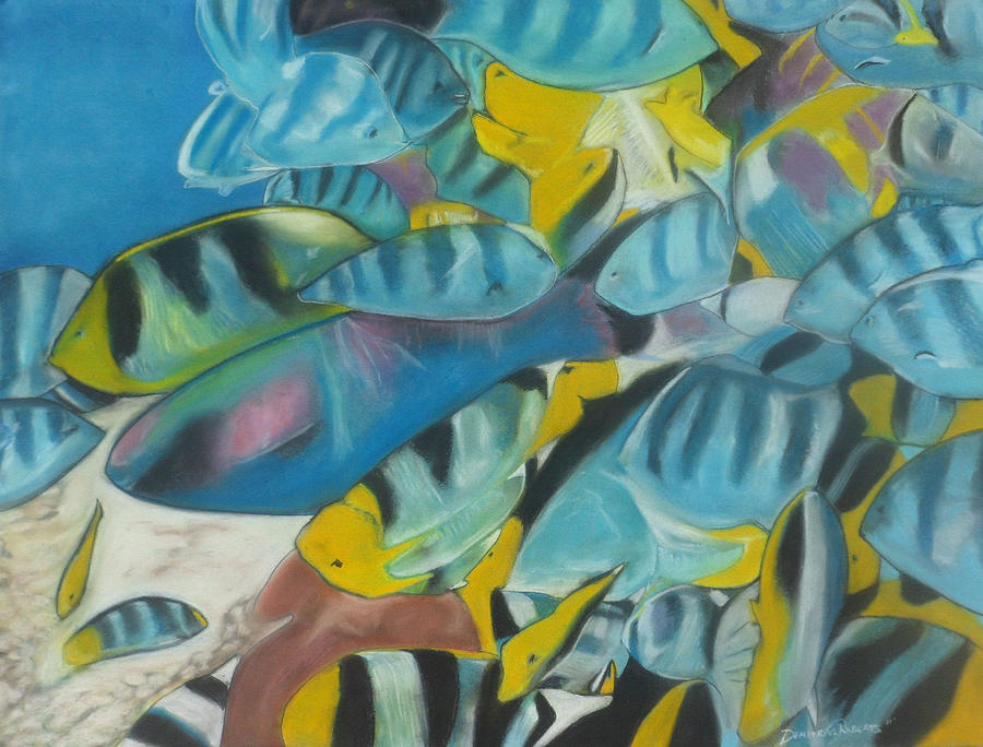 Fish Painting - Under The Sea by Demitrius Roberts