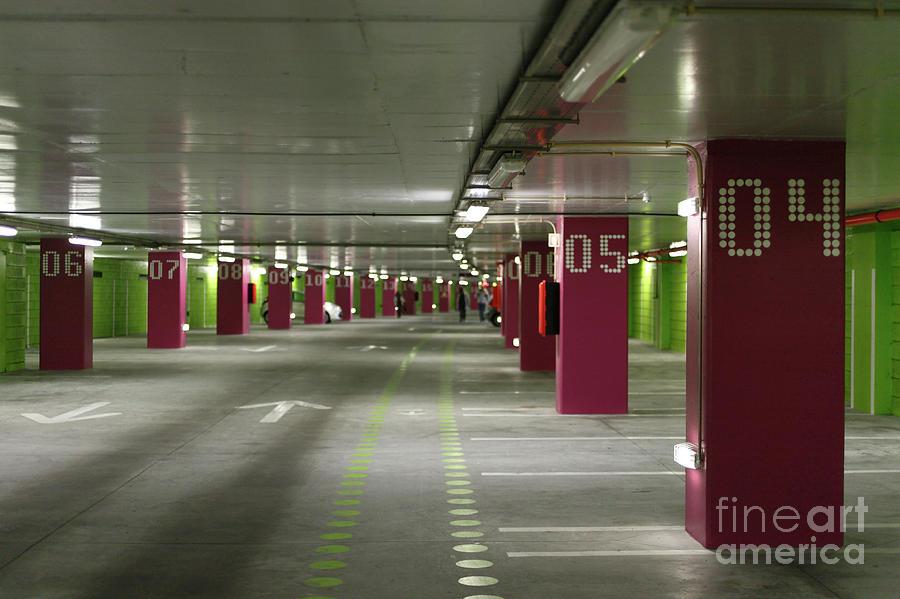 Parking Photograph - Underground Parking Lot by Gaspar Avila