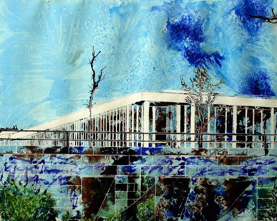 Architecture Painting - Underpass by Cathy S R Read