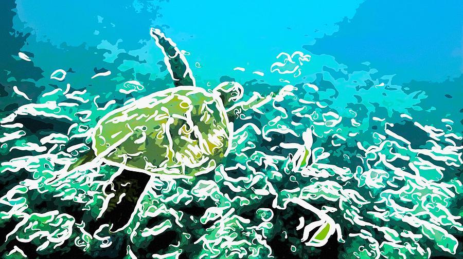 Underwater Landscape 1 Painting