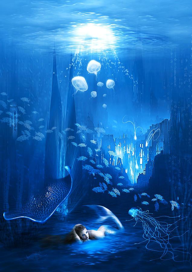 Abstract Digital Art - Underwater World by Svetlana Sewell
