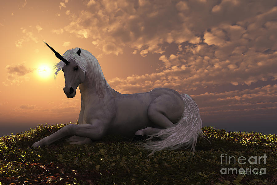 Unicorn Painting By Corey Ford