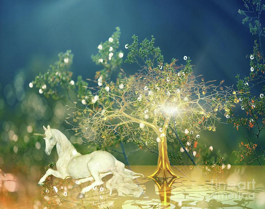 Unicorn Resting Series 2 Digital Art
