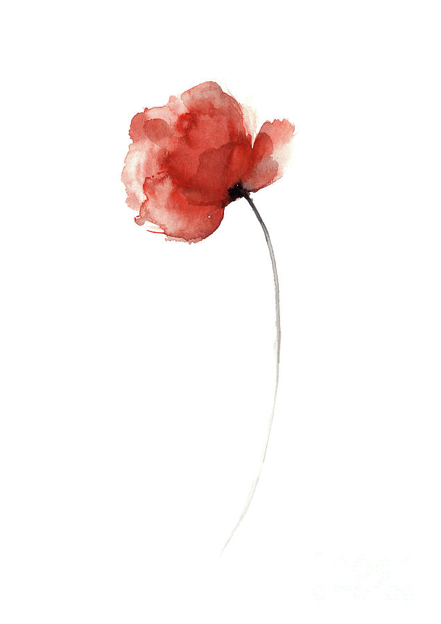 Unique poppy wall decor mothers day abstract flower - Unusual mothers day flowers ...