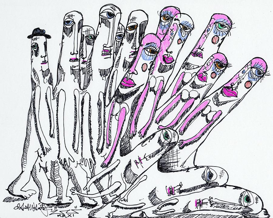 Contemporary Drawing - United by Robert Wolverton Jr